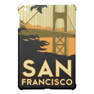 san francisco art deco retro travel poster iPad mini cases