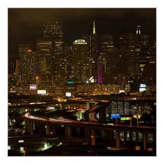 San Francisco at night Poster