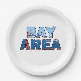San Francisco Bay Area Paper Plate