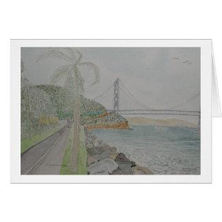 san francisco bay bridge from treasure island greeting card