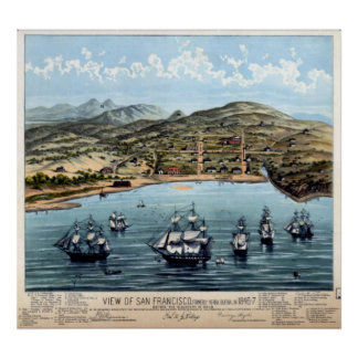 San Francisco Bay Map Print