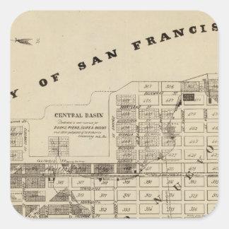 San Francisco Bay Salt Marsh Square Sticker