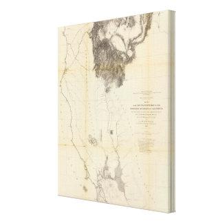 San Francisco Bay to N boundary of California Gallery Wrap Canvas