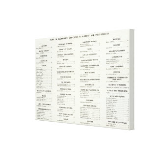 San Francisco Business Index 2 Stretched Canvas Prints