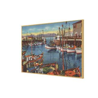 San Francisco, CA Fishing Fleet at Fisherman's Canvas Print