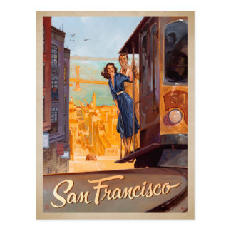 San Francisco, CA - Trolly Postcard