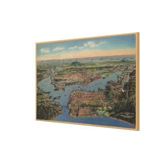 San Francisco, CAAerial View from West Canvas Print