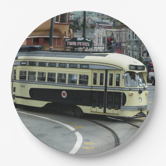 San Francisco Cable Car 9 Inch Paper Plate