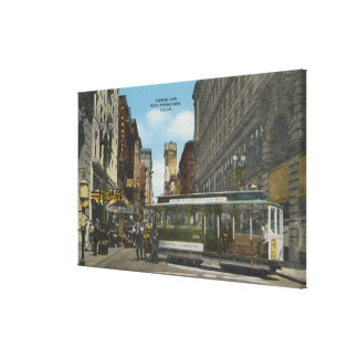San Francisco, CACable Car Turnaround View Stretched Canvas Prints