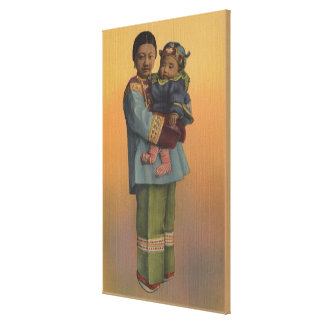 San Francisco, CAChinese Woman & Baby Canvas Prints