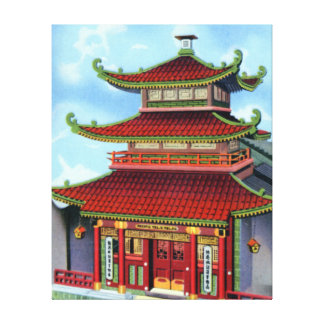 San Francisco California Chinese Telephone Exchang Stretched Canvas Print