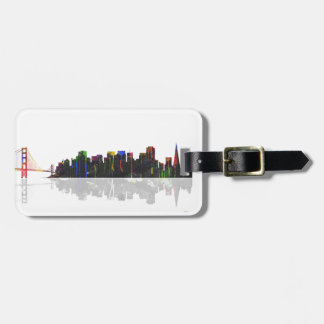 San Francisco California Skyline Luggage Tag
