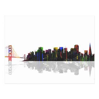 San Francisco California Skyline Postcard