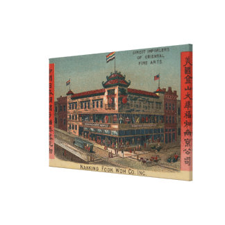 San Francisco, CAView of Nanking Fook Co. Gallery Wrapped Canvas