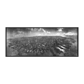 San Francisco Earthquake Ruins of 1906 Panorama Stretched Canvas Print