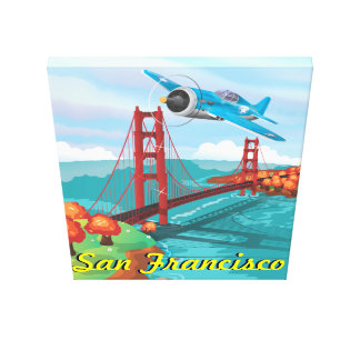 San Francisco Golden Gate Bridge Stretched Canvas Print