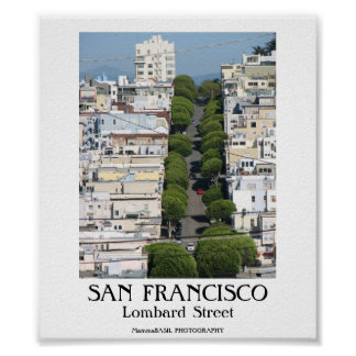 SAN FRANCISCO - Lombard Street Print