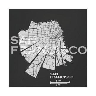 San Francisco Map Canvas Canvas Print