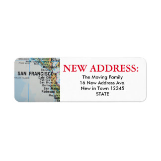 San Francisco New Address Label