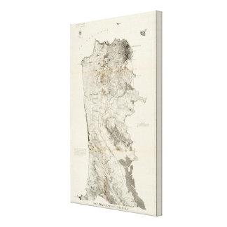 San Francisco Peninsula Gallery Wrapped Canvas