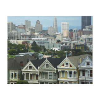 San Francisco Postcard Row City Scene Photography Canvas Prints