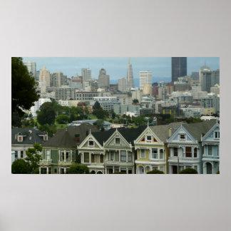 San Francisco Postcard Row City Scene Photography Poster