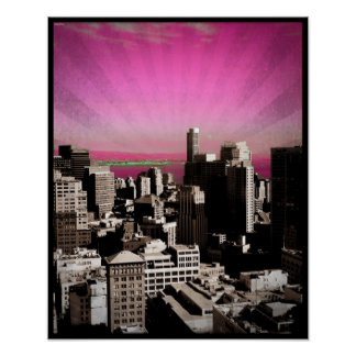 "San Francisco Poster - X-Small (12.9"" x 16"")"