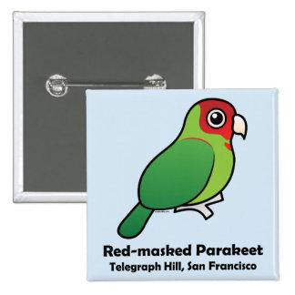 San Francisco Red-masked Parakeet 15 Cm Square Badge