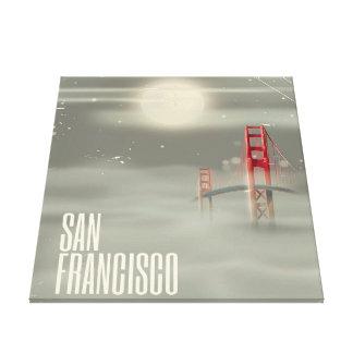 San Francisco Retro Travel poster Canvas Print