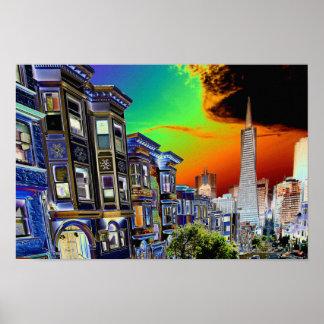 San Francisco Scene Poster
