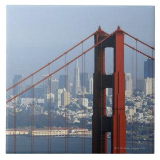 San Francisco seen trough Golden Gate Bridge. Tile