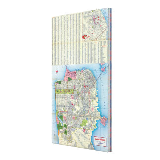 San Francisco Street Map Canvas Print