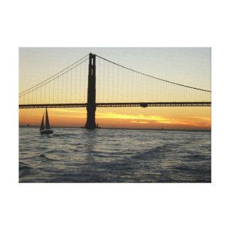 San Francisco Sunset Canvas Prints