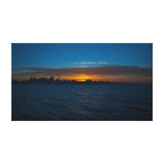 San Francisco Sunset Panorama Canvas Prints