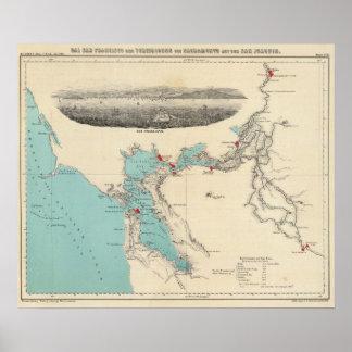 San Francisco to Sacramento Poster