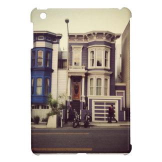 San Francisco Unique Blue and Purple Houses Case For The iPad Mini
