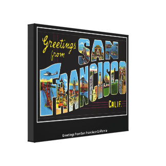 San Francisco Wrapped Canvas Create your own Canvas Print