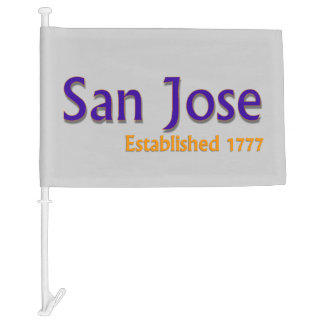 San Jose Car Flag
