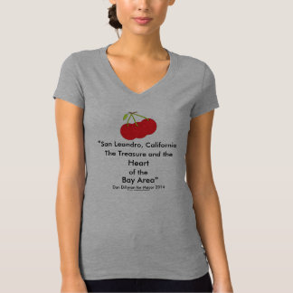 San Leandro, California Treasure Heart of Bay Area T Shirt