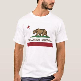 san lorenzo california state flag T-Shirt