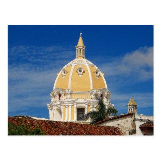 san Pedro Cathedral Cartagena Travel Postcard