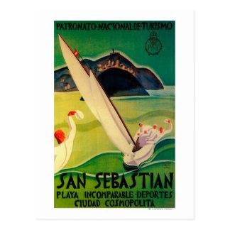 San Sebastian Vintage PosterEurope Postcard