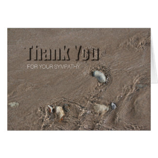 Sand 1 Modern Sympathy Thank You Note Card
