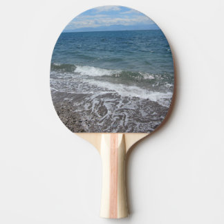 Sand and Ocean Waves Ping Pong Paddle