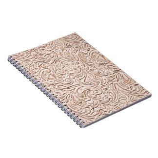 Sand Beige Color Vintage Tin Tile Look Note Book