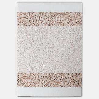 Sand Beige Color Vintage Tin Tile Look Post-it Notes