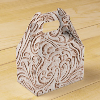 Sand Beige Color Vintage Tin Tile Look Wedding Favour Boxes