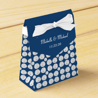 Sand Dollar on Deep Blue Personalized Gift Box Wedding Favour Box