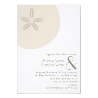 Sand Dollar Wedding Invite Together With Parents