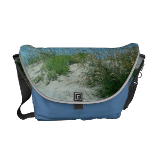 Sand Dune and Sea Oats at Outer Banks Beach Photo Commuter Bags